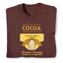 Chocolate Counts As a Vegetable Shirts