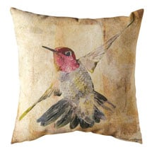 Watercolor Hummingbird Indoor/Outdoor Pillows - Flight