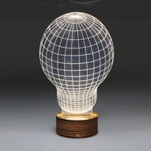 3D Illusion USB Light Sculpture - Light Bulb