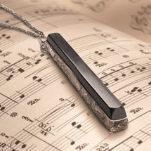 Antique Ebony Piano Key Pendant