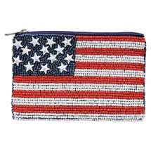 Flags Beaded Coin Purses
