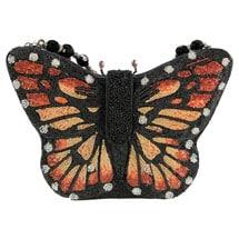 Mary Frances Hand-Beaded Majestic Monarch Handbag