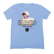 Miss Fisher's Mysteries - Beside Every Good Man Is a Good Woman Ladies T-Shirt