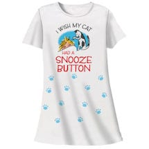 Cat Snooze Button Nightshirt