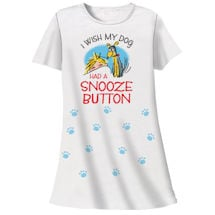 Dog Snooze Button Nightshirt