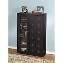Solid Oak Mission-Style Multimedia Storage