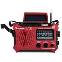 Solar-Powered Emergency Radio: Red