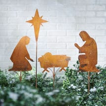 Nativity Yard Stakes Set