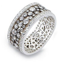 Pave Style Terrazzo Sparkle Ring