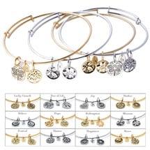 Expandable Symbolic Bangle Bracelets