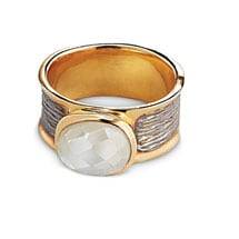Etched Moonstone Ring