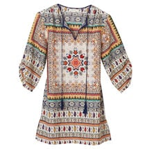 Marrakech Tassel Tie Tunic Top