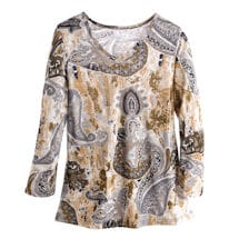 Claudette Paisley Swing Tunic Top