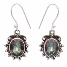 Sterling Wreathed Mystic Earrings