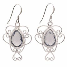 Lady Iolite Sterling Earrings