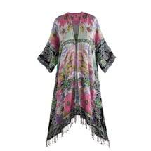 Elegant Embroidered Shawl Jacket