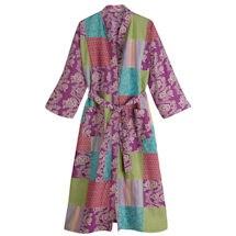 Plush Purple Long Kimono Robe