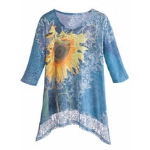 Sunflower Tunic Top With Lace