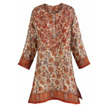 Autumn Sunset Silky Tunic Top