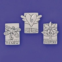 Inspire Pewter Magnets Set
