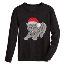 Christmas Kitty Light-Up Sweater