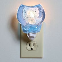 Blue Elephant Night Light