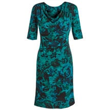 Tantalizing Teal Drape Dress
