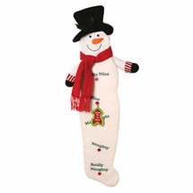 Naughty Or Nice Stocking - Snowman