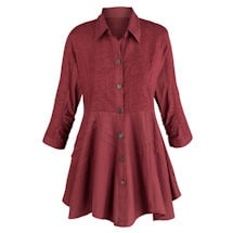 Wine Soutache Tunic Top