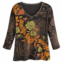 Autumn Leaf Pattern Top