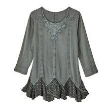 Misty Morning Lace-Hem Tunic