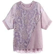 2-Pc. Cutwork Dolman Tunic Set