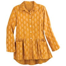 Golden Sun Flounce Tunic