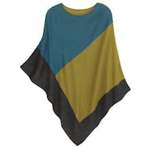 Berkshire Blocks Knit Poncho