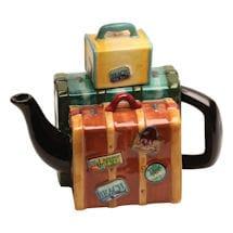 Luggage Stack Teapot