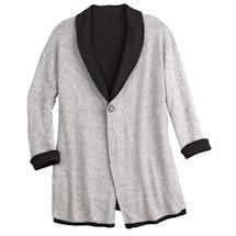 Reversible One-Button Fleece Jacket