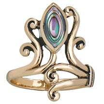 Paua Shell Asymmetrical Ring