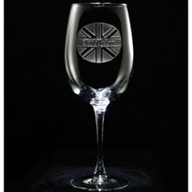 Personalized British Pride Wine Glass