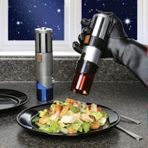 Star Wars™ Darth Vader Anakin Luke Skywalker Rey and Finn Lightsaber Salt & Pepper Mills