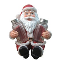 DWK Santa Claus Salt and Pepper Shaker Set - Holiday Theme Spice Containers/Holders - Kitchen and Dining Decor