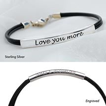 Love You More Bracelet - Sterling Silver Engraved