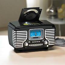 Corsair Clock Radio/CD Player with Bluetooth - Black
