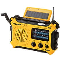 Solar-Powered Emergency Radio: Yellow