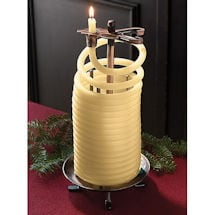 Beeswax Coil Candle with Stand