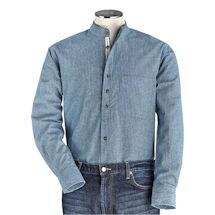 Men's Irish Grandfather Blue and White Shirt