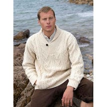 Men's Shawl-Collar Pullover