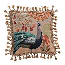Blue Tail Peacock Pillows