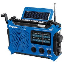 Solar-Powered Emergency Radio: Blue
