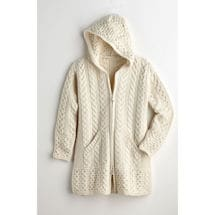 Brigid Hooded Aran Cardigan