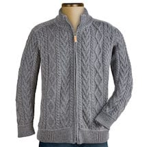 Men's Irish Zip Cardigan with Shoulder Detail